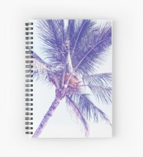 Ultra Violet Tropical Palm Tree Spiral Notebook