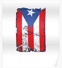 Puerto Rico Flag Baseball Player V5 Poster