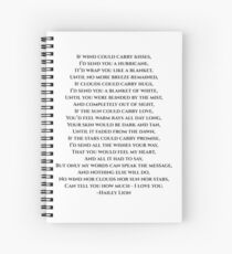 If wind could carry kisses... Spiral Notebook