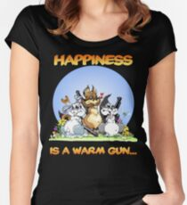 Happiness Is a Warm Gun... Women's Fitted Scoop T-Shirt