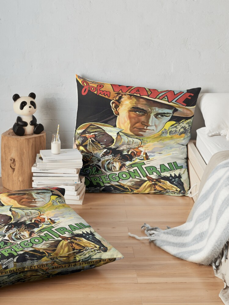 Alternate view of Vintage poster - The Oregon Trail Floor Pillow