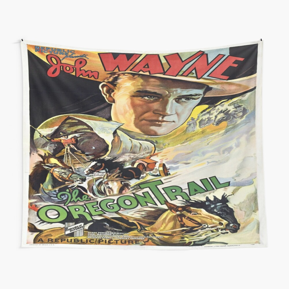 Vintage poster - The Oregon Trail Wall Tapestry
