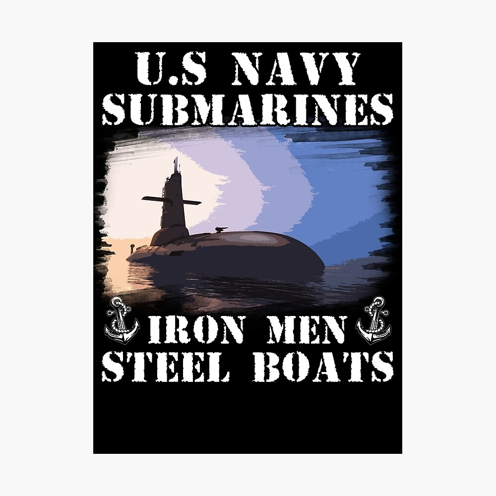 Submarinos de la Marina de los EE. UU., Barcos de acero de hombres de hierro Lámina fotográfica