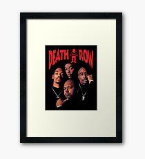 Death Row Records T-Shirt Framed Print