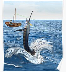 Old man and the Sailfish Poster