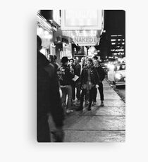 Naked I With Boston Crew Canvas Print