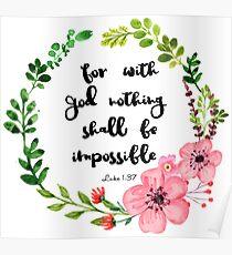 Luke 1:37 Poster