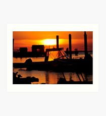 Sunset on Delaware Bay Art Print