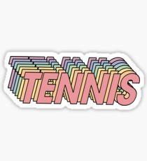 Regenbogen-Tennis-Aufkleber Sticker