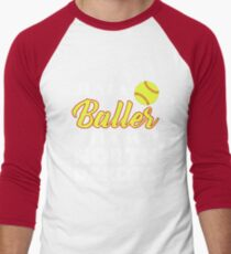 Just A Baller From North Dakota Men's Baseball ¾ T-Shirt