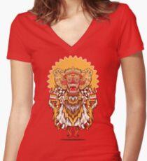 Barong Monster Women's Fitted V-Neck T-Shirt