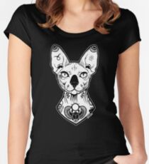sphynx tattooed Women's Fitted Scoop T-Shirt