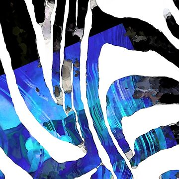 Blue And Black Abstract Art - Sharon Cummings Artist by SharonCummings