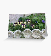 Lovely framed Flowerbed Greeting Card