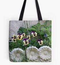 Lovely framed Flowerbed Tote Bag