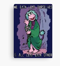 Fraggle Rock TV Show 80s Muppets Cartoon Comic Mokey Canvas Print