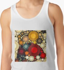 Multi Color Bubble Distressed Abstract Art  Tank Top