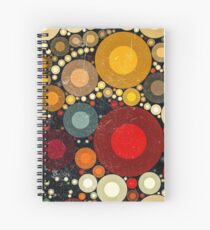 Multi Color Bubble Distressed Abstract Art  Spiral Notebook