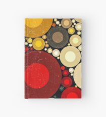 Multi Color Bubble Distressed Abstract Art  Hardcover Journal