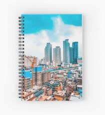 Skyscrapers in Seoul,South Korea Spiral Notebook