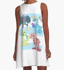 Cryptid Holiday A-Line Dress