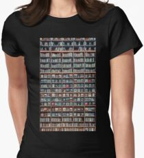 Coex Library with enhanced contrast Women's Fitted T-Shirt