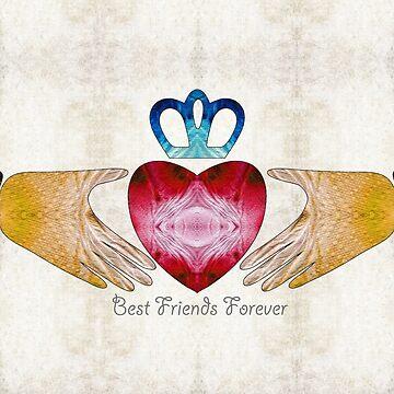 Friendship Art - Best Friends Forever - Sharon Cummings Artist by SharonCummings