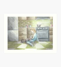 """""""The Cook and Her Cat"""" Art Print"""