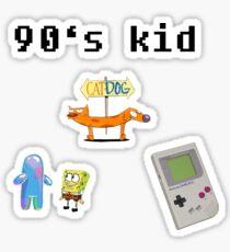 90's child Sticker