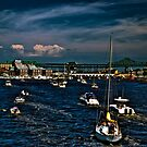 Boston/Charlestown Harbor by LudaNayvelt
