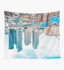 upside down skyscrapers Wall Tapestry