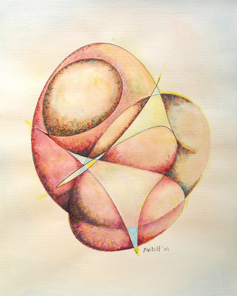 "The Millenium Stone - watercolor - 8"" x 10"" by Dave Martsolf"