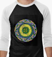 Emerald Isle Mandala  Men's Baseball ¾ T-Shirt