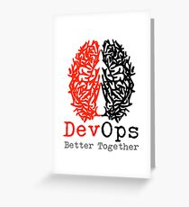 DevOps Better Together Greeting Card