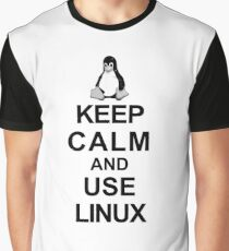 keep calm and use linux Graphic T-Shirt