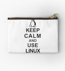 keep calm and use linux Studio Pouch