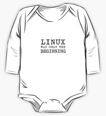 linux was only beginning One Piece - Long Sleeve