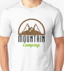 Outdoor Mountain Camping Black- Gift Idea Unisex T-Shirt