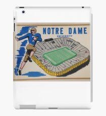 Notre Dame University Football 50s iPad Case/Skin
