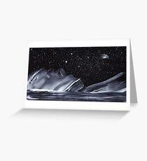 Ice Comet Greeting Card