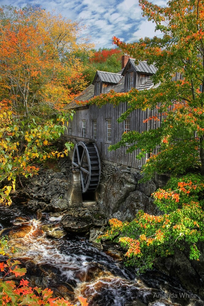 Fall at Sable River Mill by Amanda White