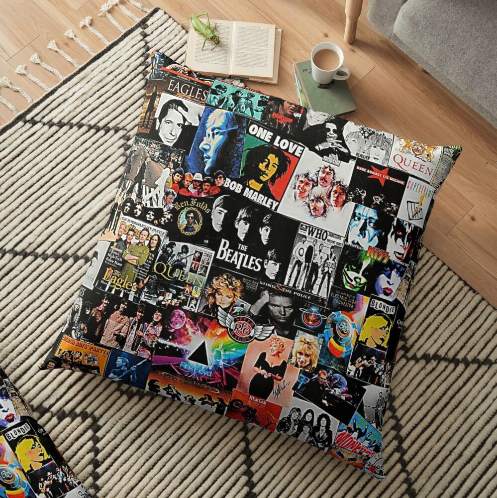 Rock Collage Floor Pillow