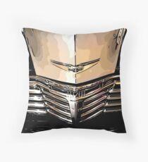 Classic Chrome Car Grill 1940s Throw Pillow