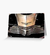 Classic Chrome Car Grill 1940s Greeting Card