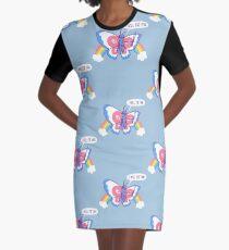 Butterfly Knife Graphic T-Shirt Dress