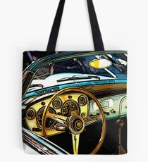 Turquoise Classic 1960's Convertible Tote Bag