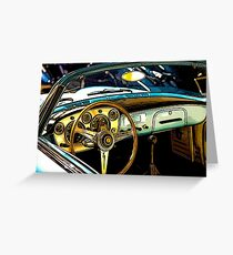 Turquoise Classic 1960's Convertible Greeting Card