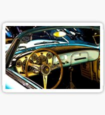 Turquoise Classic 1960's Convertible Sticker