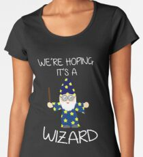 Were Hoping It's A Wizard Funny Expecting Mother  Women's Premium T-Shirt