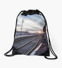 Grand Canal Dock, Dublin, Ireland Drawstring Bag